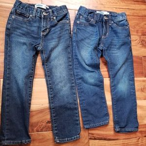 Two pair of size 5 old Navy boys jeans